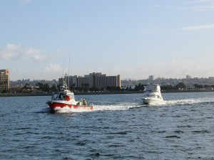 Vessel Assist Shelter Island towing a boater back to San Diego